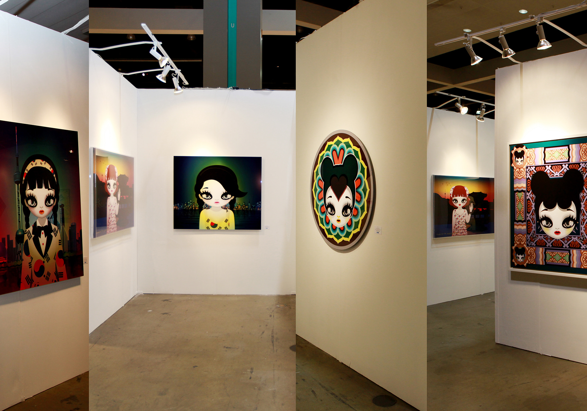 Mari's Solo exhibition at LA art show 2016